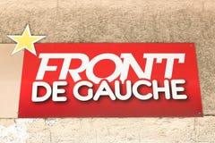 Логотип Передн de Gauche на стене стоковые фотографии rf