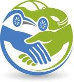 Логотип перемещений друзей Стоковое Изображение RF