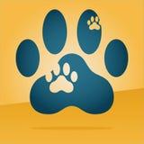 Логотип печати лапки Стоковые Фото