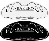 Логотип печениь минималистского абстрактного хлебца сладостный Стоковое Фото