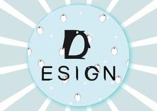Логотип пингвина Стоковое Изображение