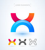 Логотип письма x вектора абстрактный Стоковые Изображения