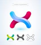 Логотип письма x вектора абстрактный Стоковая Фотография RF
