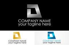 Логотип письма d металлический стоковые изображения rf