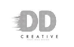 Логотип письма DD d d с черными точками и следами Стоковая Фотография