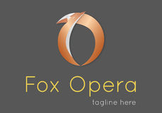 Логотип письма 'o' Fox Стоковая Фотография