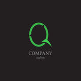 Логотип письма q - символ вашего дела Стоковая Фотография RF