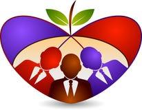 Логотип плодоовощ концепции семьи Стоковые Фото