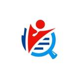 Логотип поиска работы бизнесмена Стоковое Изображение RF