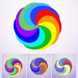 Логотип покрашенный конспектом Корпоративный значок EPS10 Стоковое Изображение