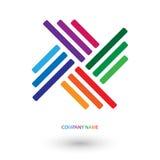 Логотип покрашенный радугой Иллюстрация штока