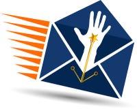 Логотип почты руки Стоковое Изображение RF