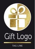 Логотип подарка Стоковое Изображение RF