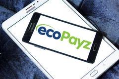 Логотип предприятий службы быта оплаты EcoPayz Стоковое фото RF
