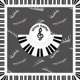 Логотип предпосылки для представления музыкального магазина рекламировать дизайн в стиле музыки для представления Стоковое Изображение RF