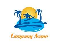 Логотип прибоя на белой предпосылке Стоковое Фото
