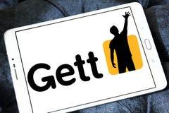 Логотип применения такси Gett Стоковое фото RF
