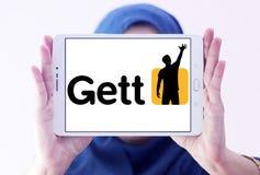 Логотип применения такси Gett Стоковое Изображение RF