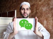 Логотип применения WeChat передвижной Стоковое Изображение