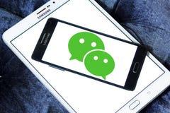Логотип применения WeChat передвижной Стоковые Фотографии RF