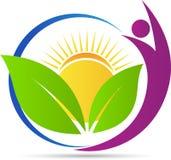 Логотип природы здоровья иллюстрация вектора