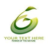 Логотип природы стоковое изображение