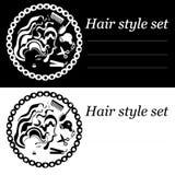 Логотип прически иллюстрация вектора