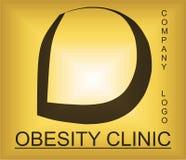 Логотип проблемы тучности алфавитный для компании обеспечивая решения бесплатная иллюстрация