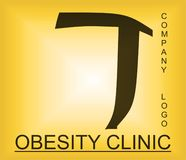 Логотип проблемы тучности алфавитный для компании обеспечивая решения стоковая фотография