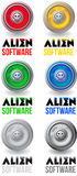 Логотип программного обеспечения чужеземца Стоковые Фотографии RF