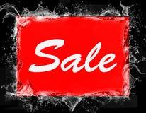 Логотип продажи Ваучер скидки продаж Стоковое фото RF