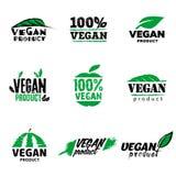 логотип продукта 100 vegan Стоковые Фотографии RF