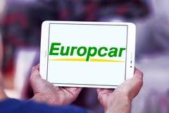Логотип проката автомобиля Europcar Стоковое фото RF