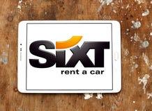 Логотип проката автомобиля Sixt Стоковые Изображения