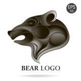 Логотип профиля медведя головной Вектор запаса Стоковые Фото