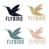 Логотип птицы мухы Стоковое Изображение RF