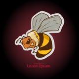 Логотип пчелы Стоковые Фото