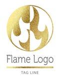 Логотип пламени Стоковые Фото