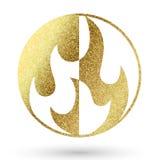 Логотип пламени Стоковое фото RF