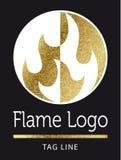 Логотип пламени Стоковые Изображения