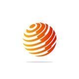 Логотип планеты технологии сферы глобуса Стоковое Фото