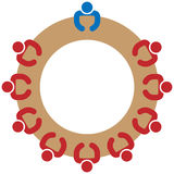 Логотип работы команды иллюстрация вектора