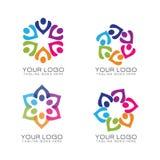 Логотип работы общины и команды стоковое изображение rf