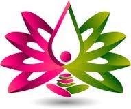 Логотип раздумья лотоса Стоковое Изображение RF
