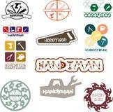 Логотип разнорабочего для потехи и удовольствия Стоковое фото RF