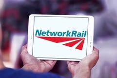 Логотип рельса сети Стоковые Фотографии RF