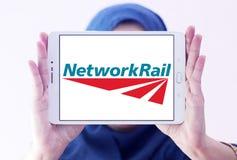 Логотип рельса сети Стоковое фото RF