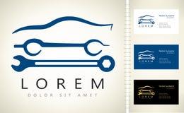 Логотип ремонта автомобилей также вектор иллюстрации притяжки corel иллюстрация вектора