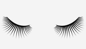Логотип ресниц Стилизованные волосы Абстрактные линии триангулярной формы Черно-белая иллюстрация вектора Стоковая Фотография RF