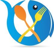 Логотип ресторана Стоковое Фото